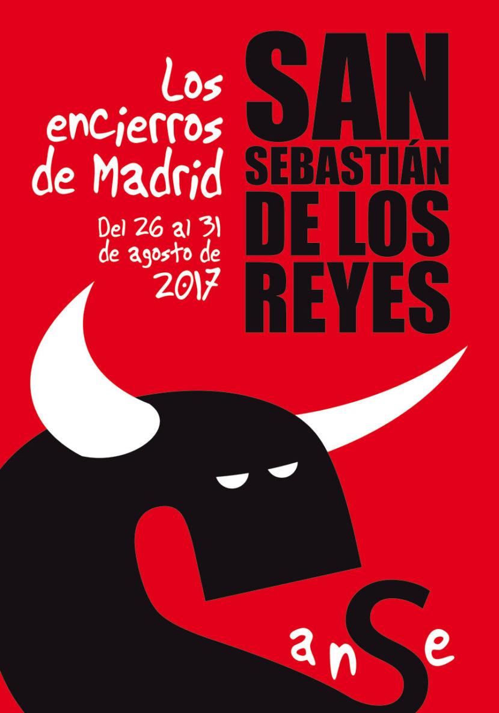 Cartel encierros San Sebastian de los Reyes 2017